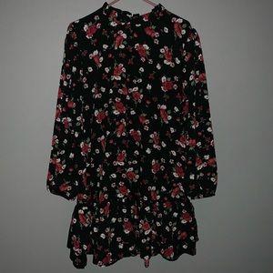 Plus size black Floral dress🖤